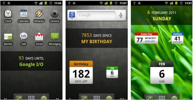 イベント当日までカウントダウンしてくれる日めくりカレンダー「DaysUntil Widget」