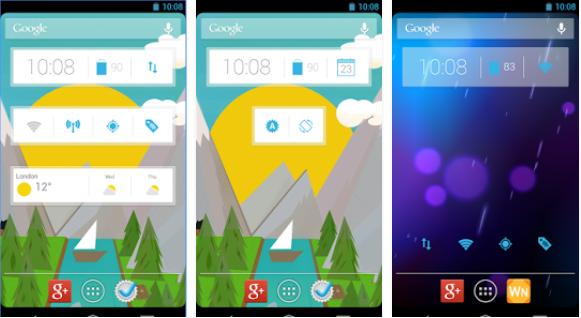 Clock Widgetはアンドロイドのウィジェットアプリ、細かな調整がかんたん操作でできます